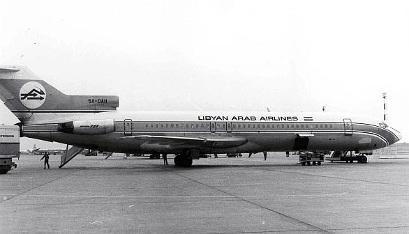 libyjský civilní letoun Boeing 727–224 (Flight 114)