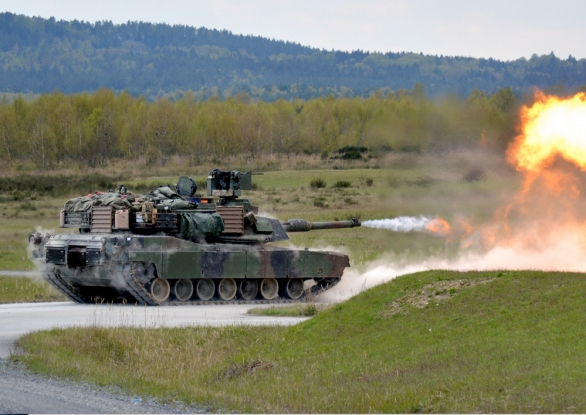 Foto: Cvičení Anakonda se zúčastní také tanky M1A2 Abrams americké armády.  / US Army