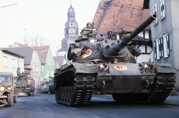 Foto: M60A3 americké armády v Německu (1985); ilustrační foto; větší foto / Public Domain