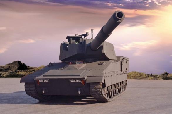 Foto: Technologický demonstrátor lehkého tanku M8 Thunderbolt z roku 2003. / BAE Systems