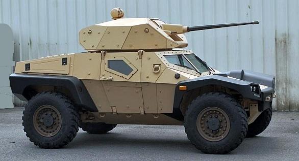 Foto: Francouzský CRAB (Combat Recce Armored Buggy). Budoucí bojová vozidla budou menší, extrémně pohyblivá s velkou palebnou silou, alespoň podle vizí agentury DARPA. / Panhard