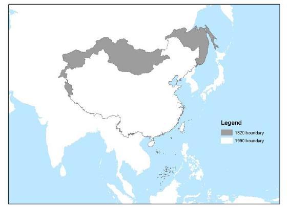 Foto: Historická území Číny zabrána Ruskem. / Autor neznámý