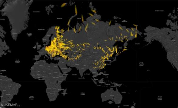 Mapa jaderného spadu