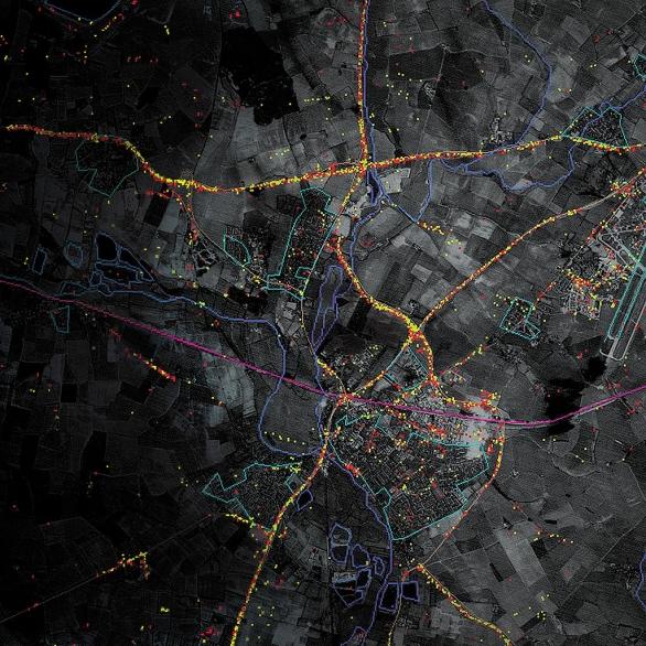 Foto: Přehledová mapa vytvořená pomocí E-8 Joint STARS. / Public Domain