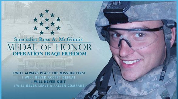 Foto: Specialista Ross Andrew McGinnis, držitel nejvyššího americké vojenského vyznamenání Medal of Honor. / army.mil
