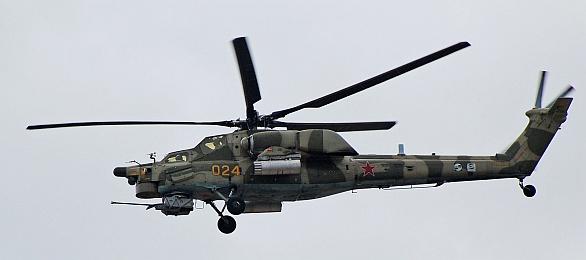 Foto: Mi-28NE na letecké výstavě MAKS 2007 v Moskvě. / Volné dílo