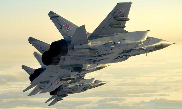 Foto: Dvojice MiGů-31 v letu; ilustrační foto; větší foto / MO Ruské federace, Max Scriabin
