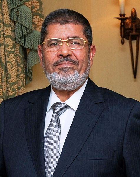 Foto: Současný prezident Egypta Muhammad Mursí / Wikipedia