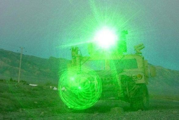 obranný laser