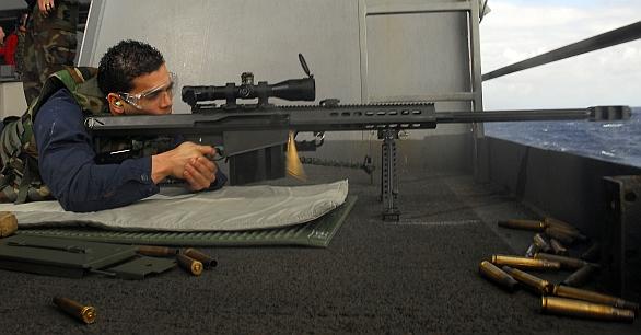 Foto: Naváděné střely EXACTO jsou určené pro odstřelovací pušky ráže 12,7 mm, jako je např. Barrett M82. / US Navy