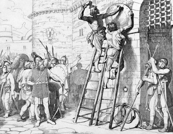 Foto: Oleg přibíjí na bráno Konstantinopole svůj erb. / Volné dílo