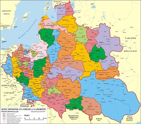 Polsko-litevská unie v roce 1619