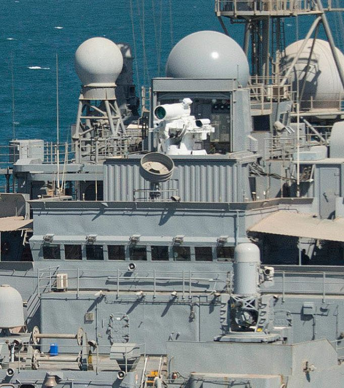 Foto: Laser LaWS na lodi  USSPonce. / U.S. NavyFoto: Laser LaWS na lodi  USSPonce. / U.S. Navy