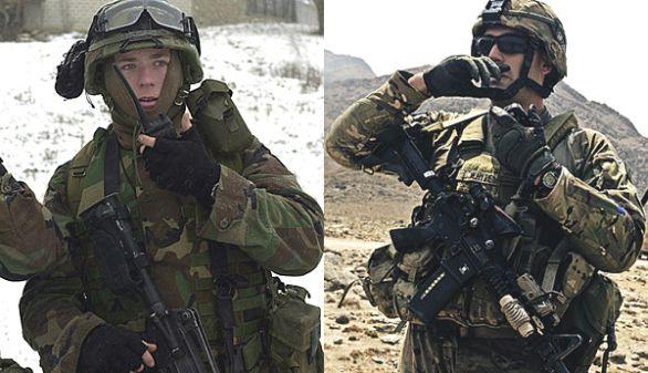 Americký voják v roce 2001 a v roce 2011