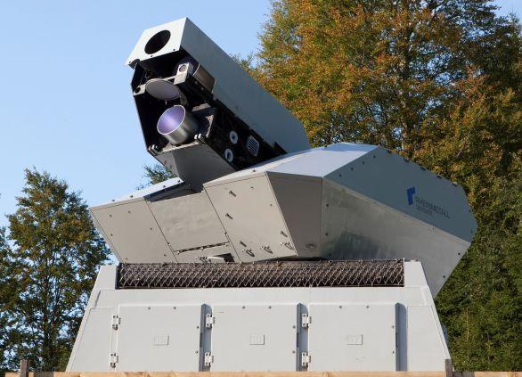 Protivzdušný laser firmy Rheinmetall