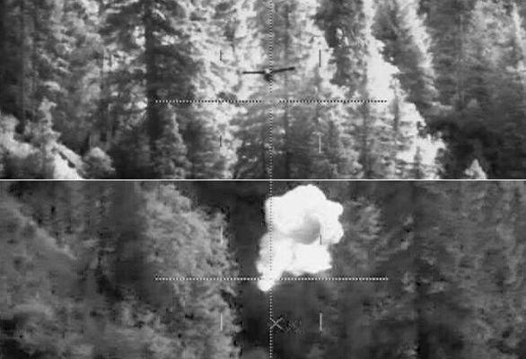 zničení UAV laserem