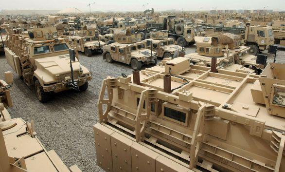 pozemní technika Irák