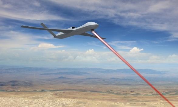 Foto: Vize General Atomics Avenger s laserem. / GA-ASI