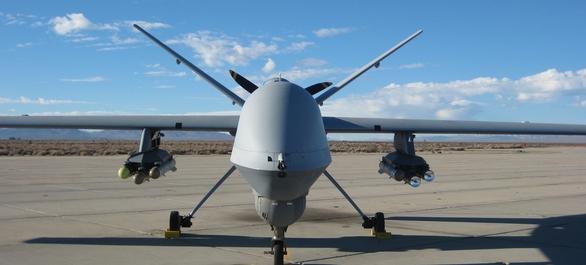Foto: MQ-9 Reaper s municí Brimstone; větší foto / General Dynamics