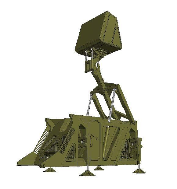 Foto: Vizualizace radaru  RL-3DM ReUNION. / RETIA a.s.