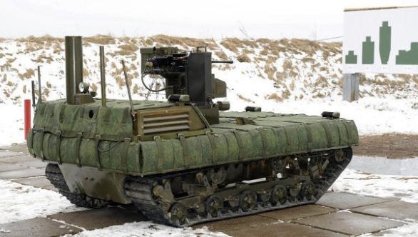 Foto: Ruský strážní robot Tajfun-M. / RIA Novosti