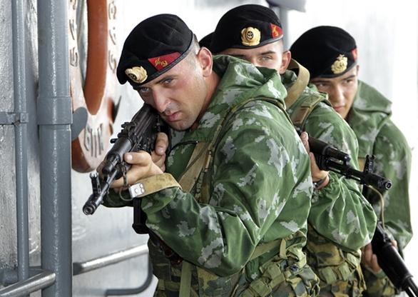 Foto: Členové ruské námořní pěchoty. /