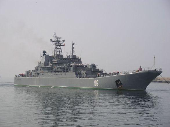 Foto: Výsadková loď třídy Ropucha. /José María Casanova Colorado, CC BY-SA 3.0