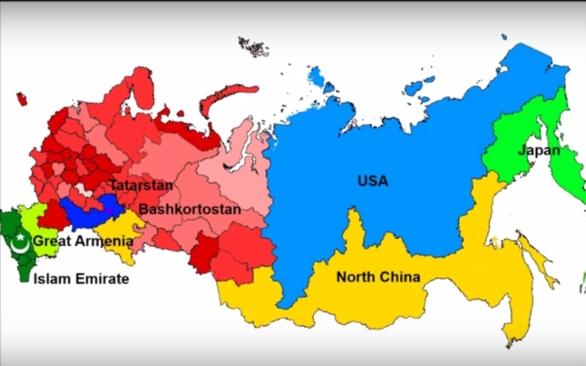 Foto: Postupný rozpad Ruska očima jednoho z blogerů. / YouTube
