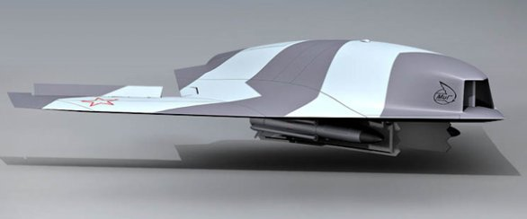 Foto: Model ruského bezpilotního letounu Manta / MiG