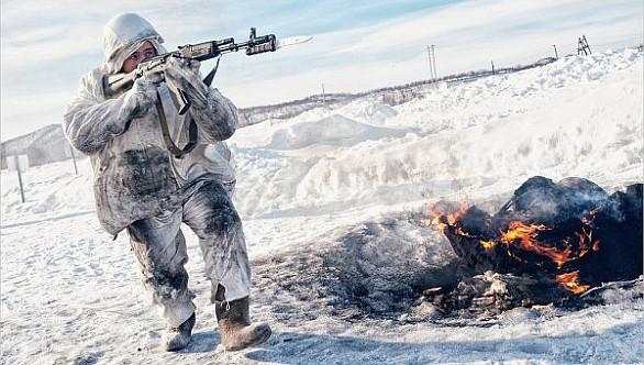 Foto: Ruský voják při cvičení v Arktidě, ilustrační foto / RIA Novosti