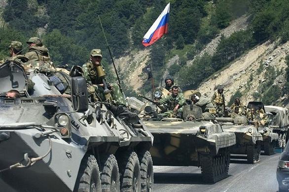 Foto: Kolona ruských vojáků; ilustrační foto / Public Domain
