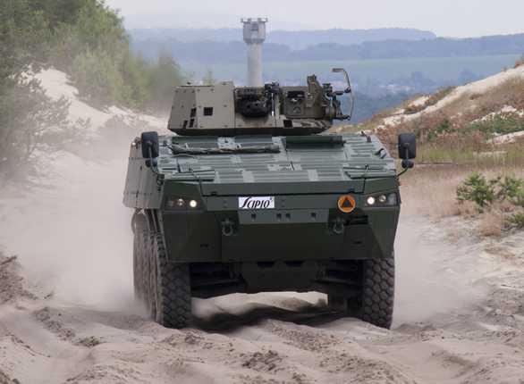 Foto: Kolové bojové vozidlo pěchoty Scipio; větší foto / PGZ