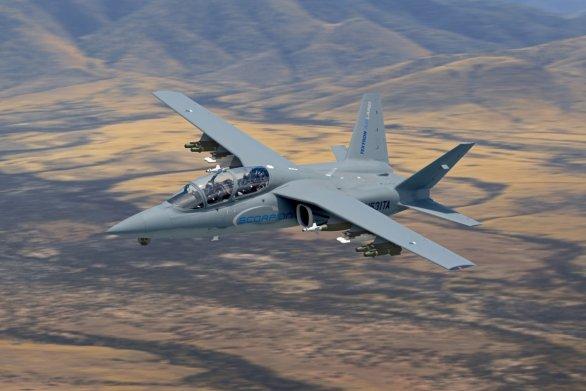 """Foto: Firma Textron nabízí místo A-10 svou nízko nákladovou """"stíhačku"""" Scorpion; větší foto / Textron"""
