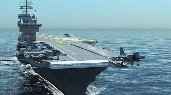 Foto: Švédové nabízejí Brazílii také námořní Sea Gripen. Pro švédský stroj nyní silně hraje fakt, že brazilské námořnictvo a letectvo mohou sdílet výcvikovou i logistickou základnu. / Saab