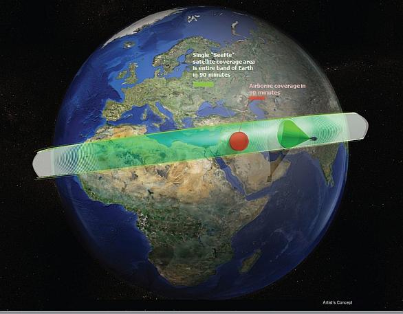 Foto: Koncepce satelitů SeeMee. / DARPA