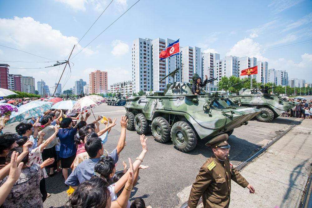 Foto: Severokorejská armáda na přehlídce v Pchjongjangu; ilustrační foto / Uri Tours; CC BY-SA 2.0