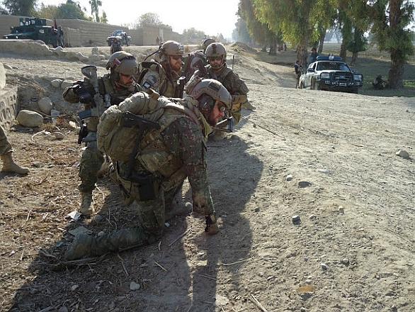 Foto: Příslušníci  5. pluku špeciálneho určenia zŽilinyv Afghánistánu. / MO SR