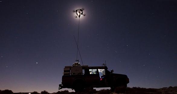 Foto: Hovermast lze nasadit ve dne i v noci. / Sky Sapience