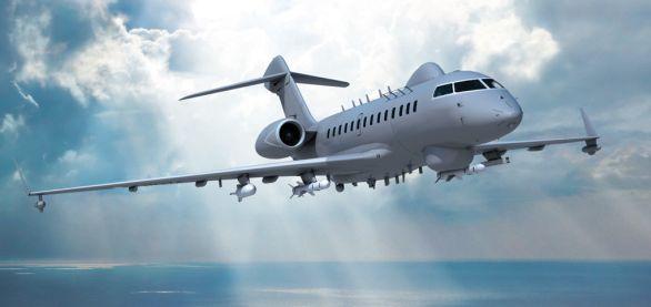 Foto: Představa námořního bojového letounu  Bombardier Global 5000. / IAI