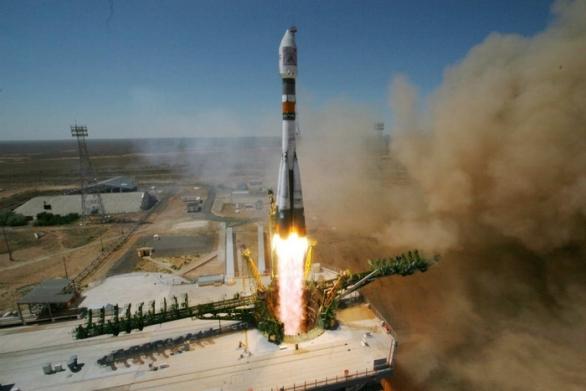 Foto: Start ruské rakety z kosmodromu Bajkonur; ilustrační foto / Roskosmos