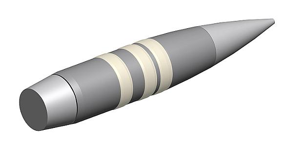 Foto: Střela EXACTO. O technologii řízení střely lze jen spekulovat. / DARPA