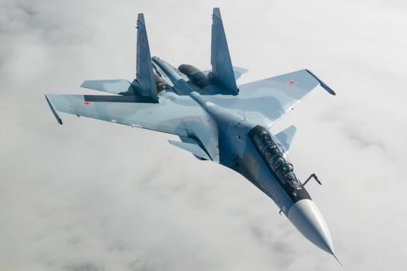 Foto: V sýrii operují ruské letouny Su-30SM; větší foto; ilustrační foto / Alex Beltyukov, CC BY-SA 3.0