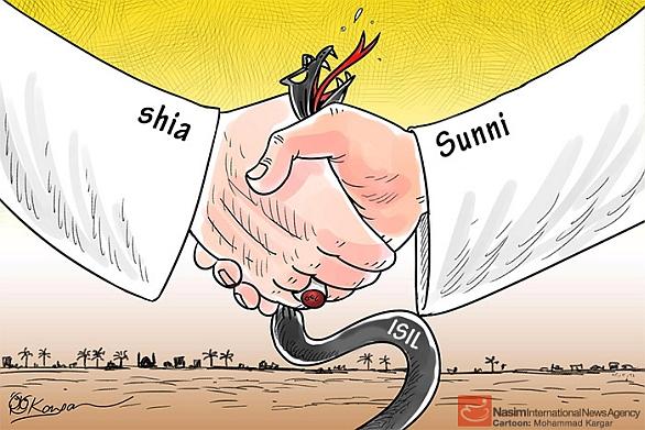 Foto: Některé karikatury znázorňující Sunnity a Šíity nejsou rozhodně tak optimistické... /