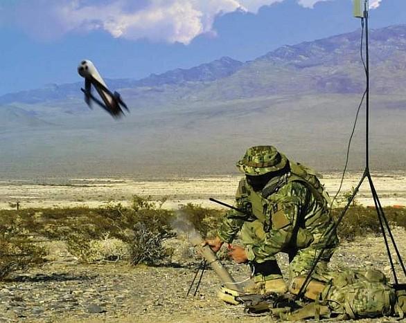 Foto: Vypouštění dronu Switchblade. / AeroVironment