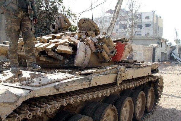 Foto: Poškozený T-72AV / vk.com