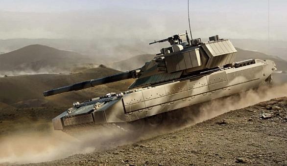 Foto: Podoba nového ruského tanku T-14 Armata je zatím tajná. Musíme se proto spolehnout na představy grafiků. / sfw.so