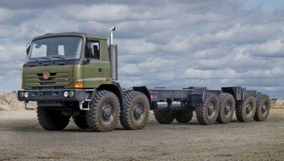 Foto: Indie používá vozidla TATRA například k přepravě balistických raket. / TATRA TRUCKS