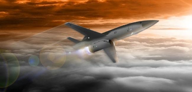 Foto: Představa UTAP-22 za letu. / Kratos
