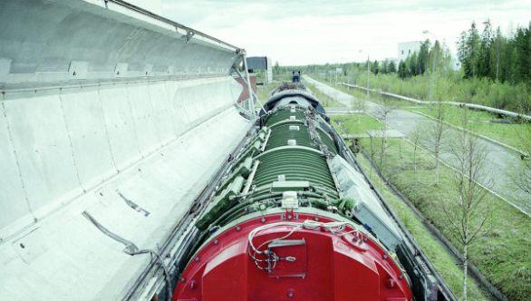 železničního mobilního raketového systém