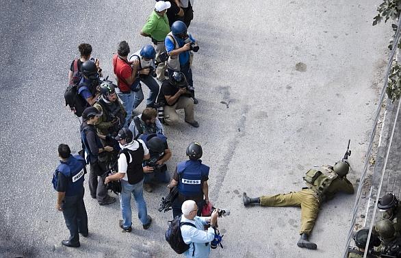 Novináří v Gaze